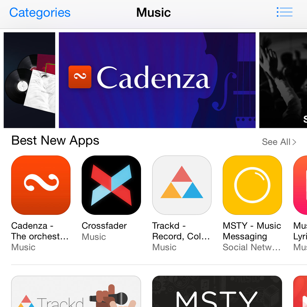 cadenza best new app store screenshot